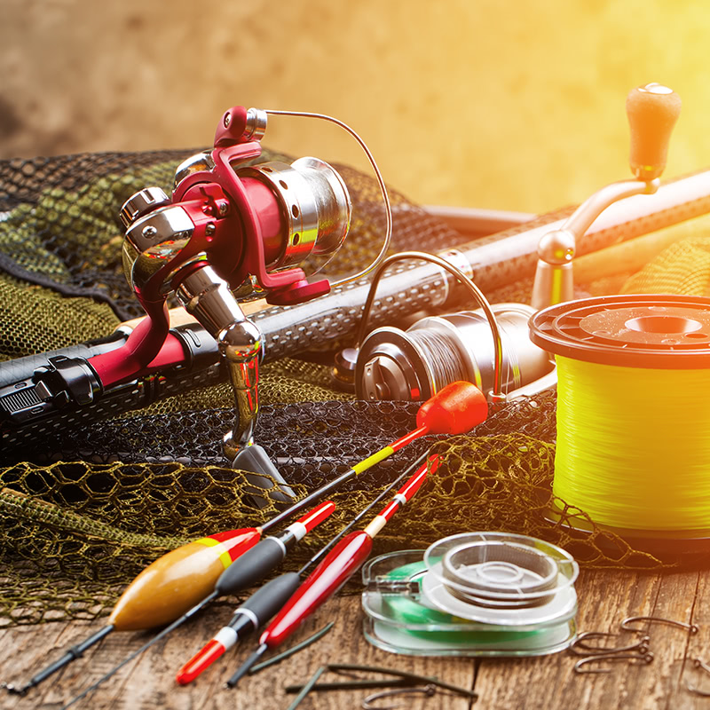 Fishing gear at blue heron sports in milton pa blue for Fishing gadgets 2017