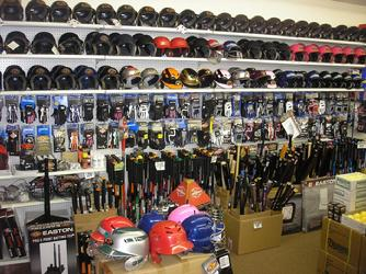 baseball equipment in stock